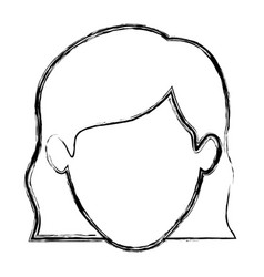 Monochrome blurred silhouette of faceless woman vector