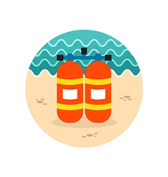 Oxygen tank icon summer vacation vector