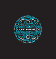 Playing cards label vector