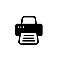 printer icon in flat style for apps ui websites vector image