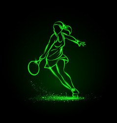 professional woman tennis player vector image