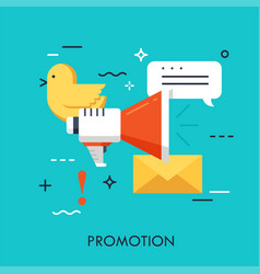 promotion flat concept vector image