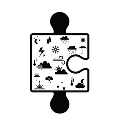 puzzle weather concept vector image