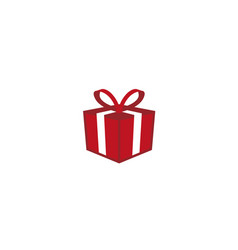 red gift box and surprise logo vector image