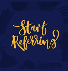 Refer a friend lettering referral marketing vector
