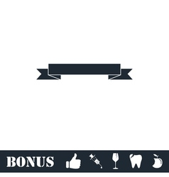 Ribbon icon flat vector