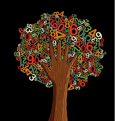 School education concept tree hand vector