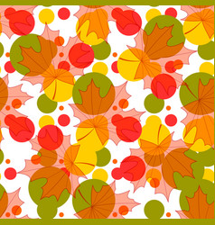 seamless background of maple leaves and bright vector image