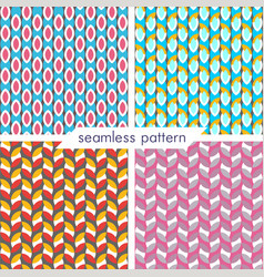 Set of four seamless geometrical patterns 23 vector