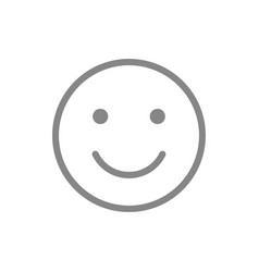 Smiley emoji line icon happy success vector
