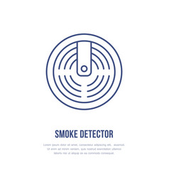 Smoke detector sign firefighting fire safety vector
