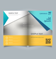 template business brochure layout design vector image
