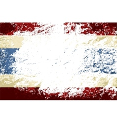 Thai flag Grunge background vector image