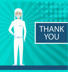 Thank you for being a life savior coronavirus vector
