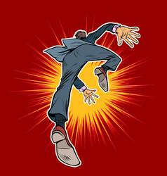 The male businessman falls forward vector
