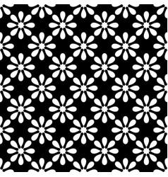 Tile black and white pattern seamless wallpaper vector
