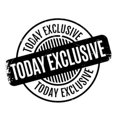 Today exclusive rubber stamp vector