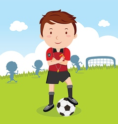 Umpire Soccer vector image