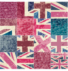 vintage london pattern vector image