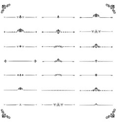 Vintage set of ector horizontal elements vector