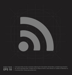 wifi icon - black creative background vector image