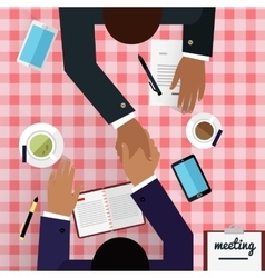 Work space meeting design flat vector