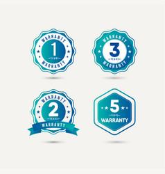 Year warranty logo icon template design vector