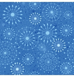 Abstract Snowflakes Seamless Pattern Background vector image