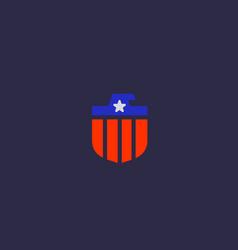 american eagle flag logo design national symbol vector image vector image