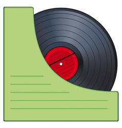 Gramophone disk vector image vector image