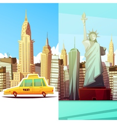 New York Two Vertical Banners vector image