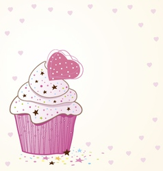 Cupcakes design vector image