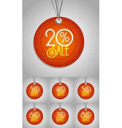 Happy Diwali label vector image vector image