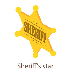 sheriff star icon isometric 3d style vector image