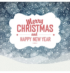 Christmas card design falling snow vector image