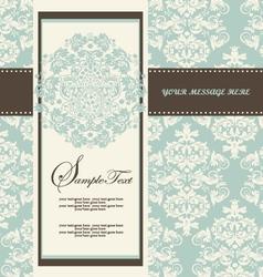 Damask Wedding Invitations vector image vector image