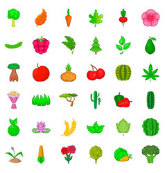 environment icons set cartoon style vector image vector image