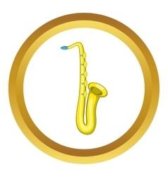 Saxophone icon vector image vector image