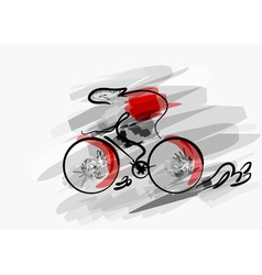 abstract cycling vector image vector image