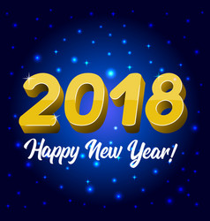 blue greeting card with a new year 2018 vector image vector image
