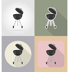 Food objects flat icons 15 vector