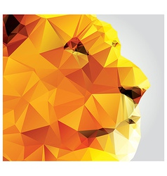 Geometric polygon lion head triangle pattern vector image