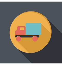 paper flat icon Truck Logistic icon vector image vector image