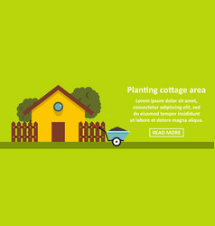planting cottage area banner horizontal concept vector image