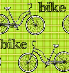 seamless pattern bikes vector image