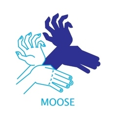 Shadow Hand Puppet Moose vector image vector image