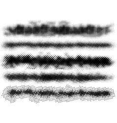 5 grunge brushes line vector image