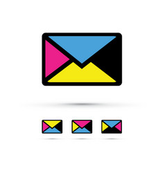 A cmyk envelope set vector