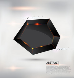 abstract geometric black shape background vector image