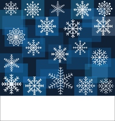 Abstract Snowflakes on Geometric Background vector